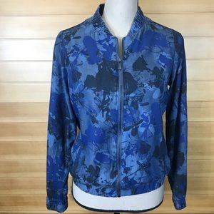 Juicy Couture Floral Print Zip Up Denim Jacket